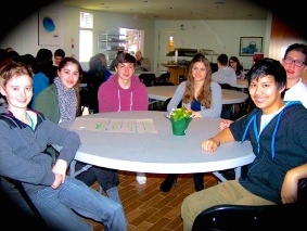 Youth leaders in discussion at the 2014 Youth Leadership Symposium at Jericho House.