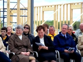 "Listening to speech at ""groundbreaking"" for Jericho House,  Wainfleet"